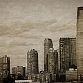 Vintage Manhattan Skyline by Dan Sproul