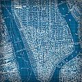 Vintage Manhattan Street Map Blueprint by Design Turnpike