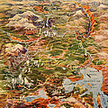 Vintage Map Of Yellowstone National Park by Edward Fielding