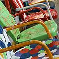 Vintage Metal Outdoor Chairs by Ruth Burke