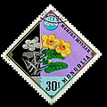 Medicinal Plants - Vintage Mongolia Stamp by Deena Stoddard