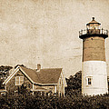 Vintage Nauset Lighthouse by David Simpson