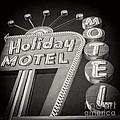 Vintage Neon Sign Holiday Motel Las Vegas Nevada by Edward Fielding