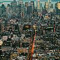 Vintage New York Skyline by Silvio Ligutti