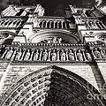 Vintage Notre Dame by John Rizzuto