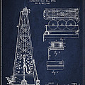 Vintage Oil Drilling Rig Patent From 1916 by Aged Pixel