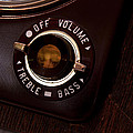 Vintage On Off Button From Old Tube Reel To Reel by Gunter Nezhoda