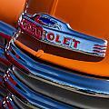 Vintage Orange Chevrolet by Carol Leigh