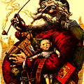 Vintage Original Coca Cola Red Santa Claus Poster by R Muirhead Art