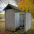 Vintage Outhouse Alongside A Historical Country School In Southwest Michigan by Randall Nyhof