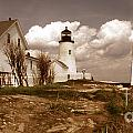 Vintage Pemaquid Point Lighthose by Skip Willits