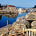 Lobster Traps In Maine by Linda Rae Cuthbertson