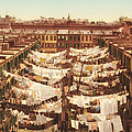 Vintage Photo Of Washing Day In New York City 1900 by Mountain Dreams