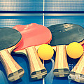 Vintage Ping-pong Bats Table Tennis Paddles Rackets by Beverly Claire Kaiya