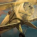 Vintage Plane In Flight by Jill Battaglia