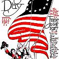 Vintage Poster - America - Flag Day 1917 by Benjamin Yeager