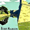 Vintage Poster - Fort Marion by Benjamin Yeager