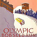 Vintage Poster - Olympics - Lake Placid Bobsled by Benjamin Yeager
