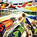 Vintage Poster - Sports - Indy 500 by Benjamin Yeager