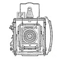 Vintage Press Camera Patent Drawing by Edward Fielding