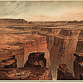 Vintage Print Of The Grand Canyon By William Henry Holmes - 1882 by Blue Monocle