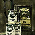 Vintage Quaker State Motor Oil by Betty Denise