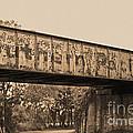 Vintage Railway Bridge In Sepia by Connie Fox