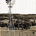 Vintage Ranch Windmill by Holly Blunkall
