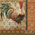 Vintage Rooster-a by Jean Plout