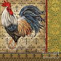 Vintage Rooster-c by Jean Plout