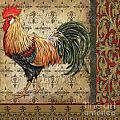 Vintage Rooster-d by Jean Plout