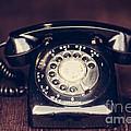 Vintage Rotary Phone by Leslie Banks