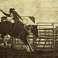 Vintage Saddle Bronc Riding by Priscilla Burgers