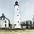 Vintage Sandy Hook Lighthouse by Bill Cannon