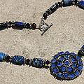 Vintage Sapphire Rhinestone Brooch Pendant Necklace 3635n by Teresa Mucha
