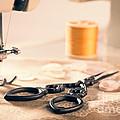 Vintage Sewing Machine by Amanda Elwell