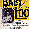 Vintage Sheet Music Cover  Circa 1898 by Theo A Metz