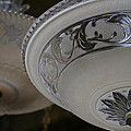 Vintage Silver And Glass Lighting Fixture by Elizabeth Rose