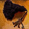 Vintage Skeleton Keys Tassled Gold by Lesa Fine
