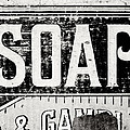 Vintage Soap Crate In Black And White by Lisa Russo