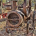 Vintage Steam Tractor by Douglas Barnard