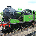 Vintage Steam Train In Green  by Tom Conway