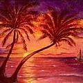 Vintage Sunset Sail  by Susan Dehlinger
