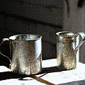 Vintage Tin Cups by Catherine Sherman