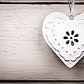 Vintage Tin Heart by Jane Rix