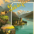 Vintage Tourism Poster 1890 by Mountain Dreams