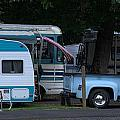 Vintage Trailer Truck by Jeri lyn Chevalier