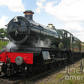 Vintage Train Black Steam Engine by Tom Conway