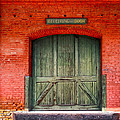 Vintage Train Depot Receiving Door - Augusta by Mark E Tisdale