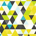 Vintage Triangle Pattern.geometric by Veronika M